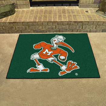 "33.75"" x 42.5"" University of Miami All Star Black Rectangle Mat"