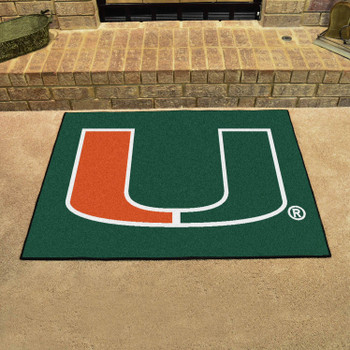 "33.75"" x 42.5"" University of Miami All Star Green Rectangle Mat"