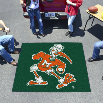"59.5"" x 71"" University of Miami Black Tailgater Mat"