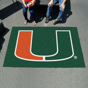 "59.5"" x 94.5"" University of Miami Green Rectangle Ulti Mat"