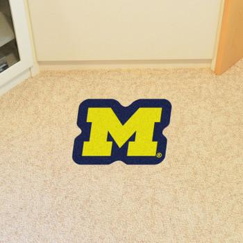 "University of Michigan Mascot Mat - ""Block M"" Logo"