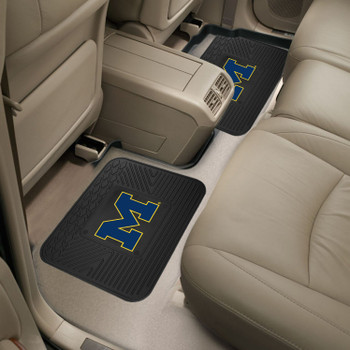 University of Michigan Heavy Duty Vinyl Car Utility Mats, Set of 2