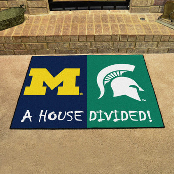 "33.75"" x 42.5"" Michigan / Michigan State House Divided Rectangle Mat"
