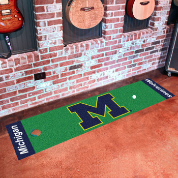 "18"" x 72"" University of Michigan Putting Green Runner Mat"