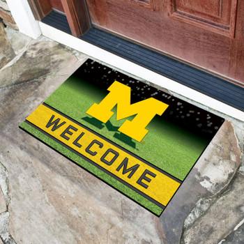 """18"""" x 30"""" University of Michigan Crumb Rubber Door Mat"""