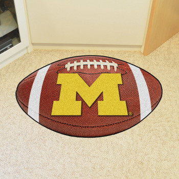 "20.5"" x 32.5"" University of Michigan Football Shape Mat"