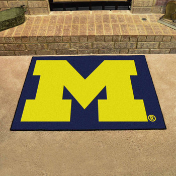 "33.75"" x 42.5"" University of Michigan All Star Blue Rectangle Mat"
