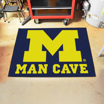 "33.75"" x 42.5"" University of Michigan Man Cave All-Star Blue Rectangle Mat"