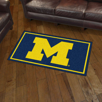 3' x 5' University of Michigan Navy Blue Rectangle Rug