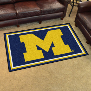 4' x 6' University of Michigan Blue Rectangle Rug
