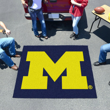 "59.5"" x 71"" University of Michigan Blue Tailgater Mat"