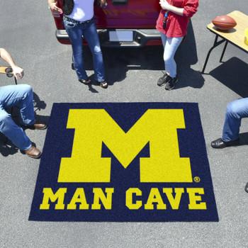 "59.5"" x 71"" University of Michigan Man Cave Tailgater Blue Rectangle Mat"