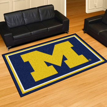 5' x 8' University of Michigan Blue Rectangle Rug