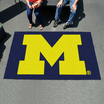 "59.5"" x 94.5"" University of Michigan Blue Rectangle Ulti Mat"