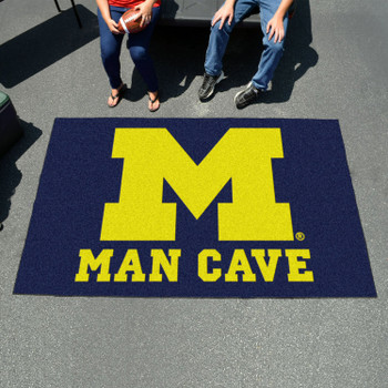 "59.5"" x 94.5"" University of Michigan Man Cave Blue Rectangle Ulti Mat"