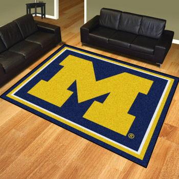 8' x 10' University of Michigan Blue Rectangle Rug