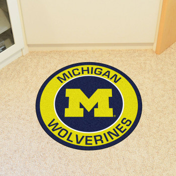 "27"" University of Michigan Roundel Round Mat"