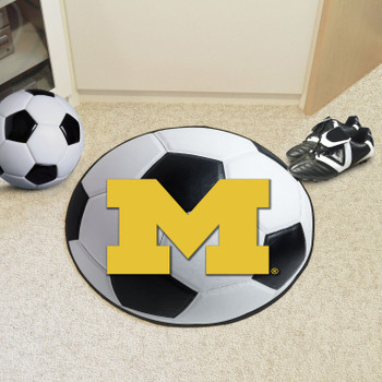 "27"" University of Michigan Soccer Ball Round Mat"