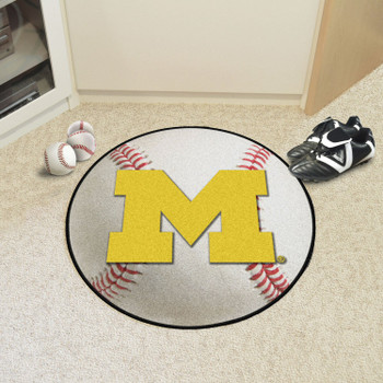 "27"" University of Michigan Baseball Style Round Mat"