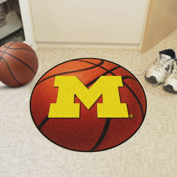 "27"" University of Michigan Basketball Style Round Mat"
