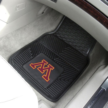 University of Minnesota Heavy Duty Vinyl Front Black Car Mat, Set of 2