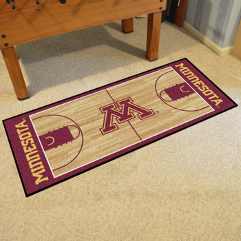 "30"" x 72"" University of Minnesota NCAA Basketball Rectangle Runner Mat"