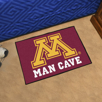 "19"" x 30"" University of Minnesota Man Cave Starter Red Rectangle Mat"