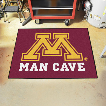 "33.75"" x 42.5"" University of Minnesota Man Cave All-Star Red Rectangle Mat"