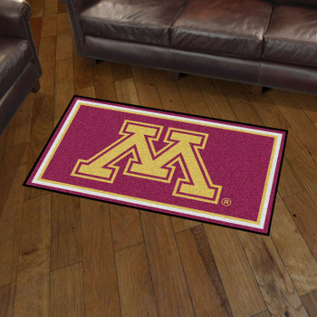 3' x 5' University of Minnesota Maroon Rectangle Rug