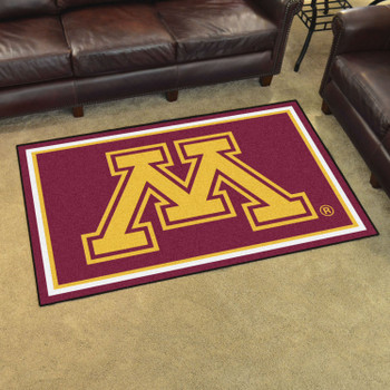 4' x 6' University of Minnesota Red Rectangle Rug