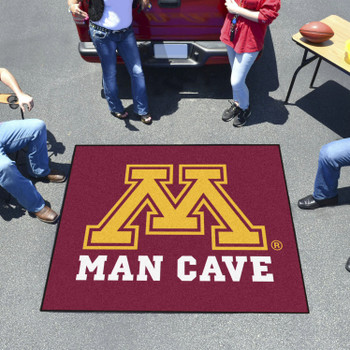 "59.5"" x 71"" University of Minnesota Man Cave Tailgater Red Rectangle Mat"