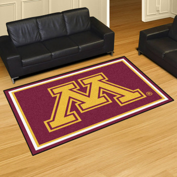 5' x 8' University of Minnesota Red Rectangle Rug