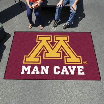 "59.5"" x 94.5"" University of Minnesota Man Cave Red Rectangle Ulti Mat"