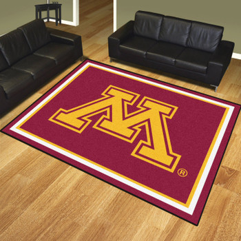 8' x 10' University of Minnesota Red Rectangle Rug
