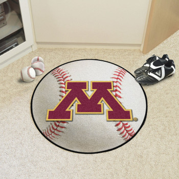 "27"" University of Minnesota Baseball Style Round Mat"