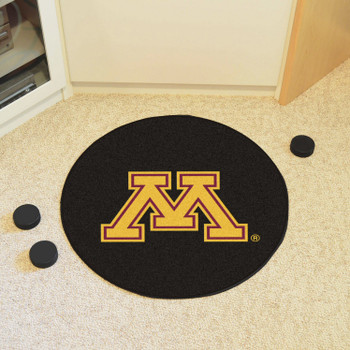 "27"" University of Minnesota Puck Round Mat - ""Block M"" Logo"