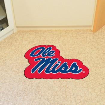 "University of Mississippi (Ole Miss) Mascot Mat - ""Ole Miss"" Script Logo"