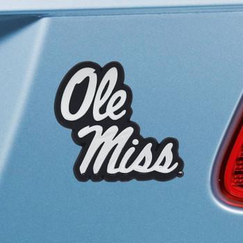 University of Mississippi (Ole Miss) Chrome Emblem, Set of 2