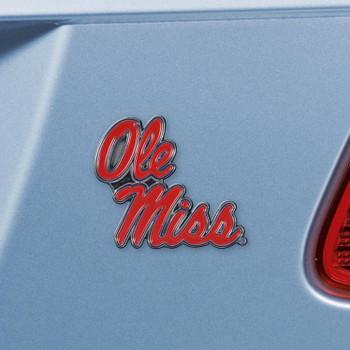 University of Mississippi (Ole Miss) Blue Color Emblem, Set of 2
