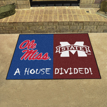 "33.75"" x 42.5"" Mississippi / Mississippi State House Divided Rectangle Mat"