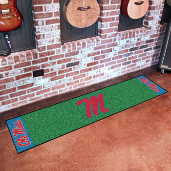 "18"" x 72"" University of Mississippi (Ole Miss) Putting Green Runner Mat"