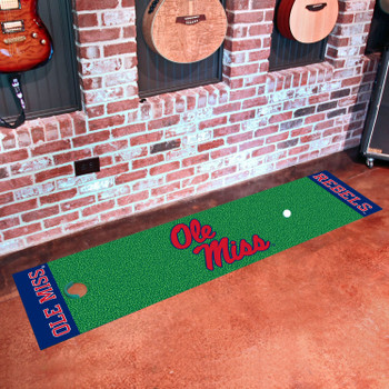 "18"" x 72"" University of Mississippi (Ole Miss) Rebels Putting Green Runner Mat"