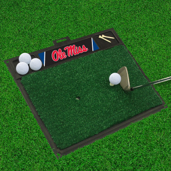 "20"" x 17"" University of Mississippi (Ole Miss) Golf Hitting Mat"