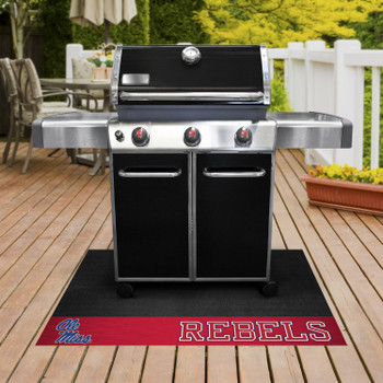 "26"" x 42"" University of Mississippi (Ole Miss) Grill Mat"