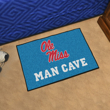 "19"" x 30"" University of Mississippi (Ole Miss) Man Cave Starter Rectangle Mat"