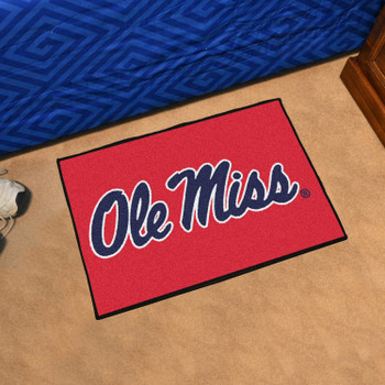 "19"" x 30"" University of Mississippi (Ole Miss) Red Rectangle Starter Mat"