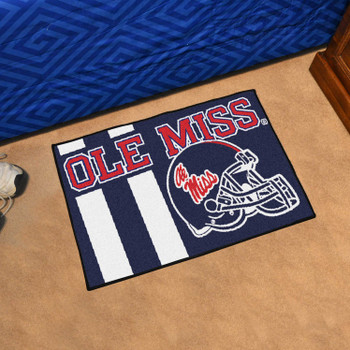 "19"" x 30"" University of Mississippi (Ole Miss) Uniform Blue Rectangle Starter Mat"