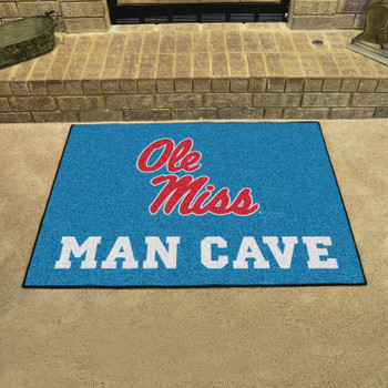 "33.75"" x 42.5"" University of Mississippi (Ole Miss) Man Cave All-Star Rectangle Mat"