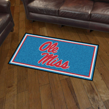 3' x 5' University of Mississippi (Ole Miss) Rectangle Rug