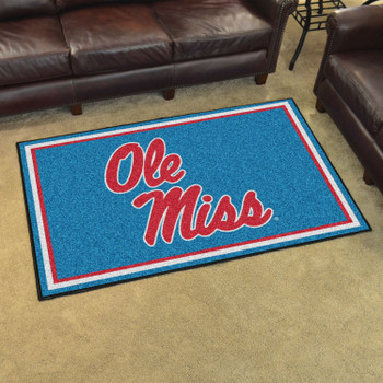 4' x 6' University of Mississippi (Ole Miss) Rectangle Rug